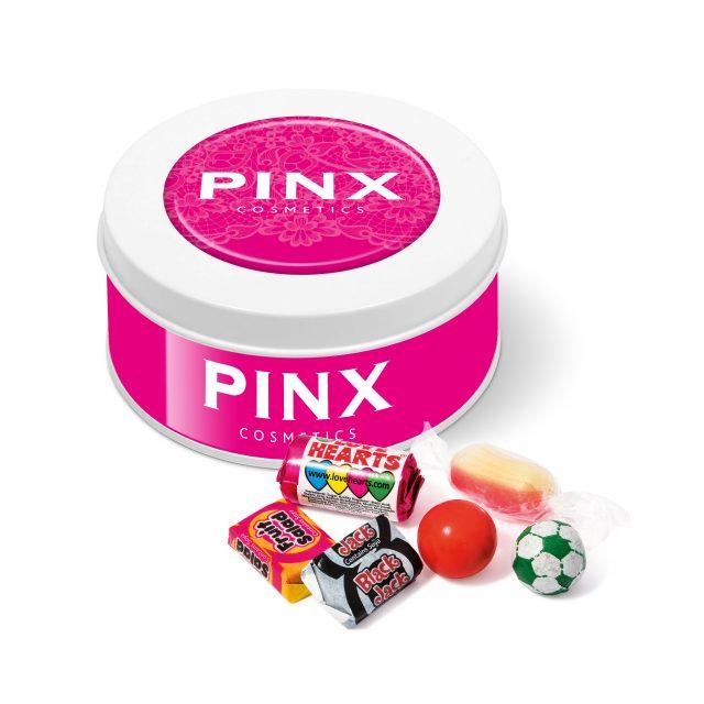 Treat Tin – White – Retro Sweets