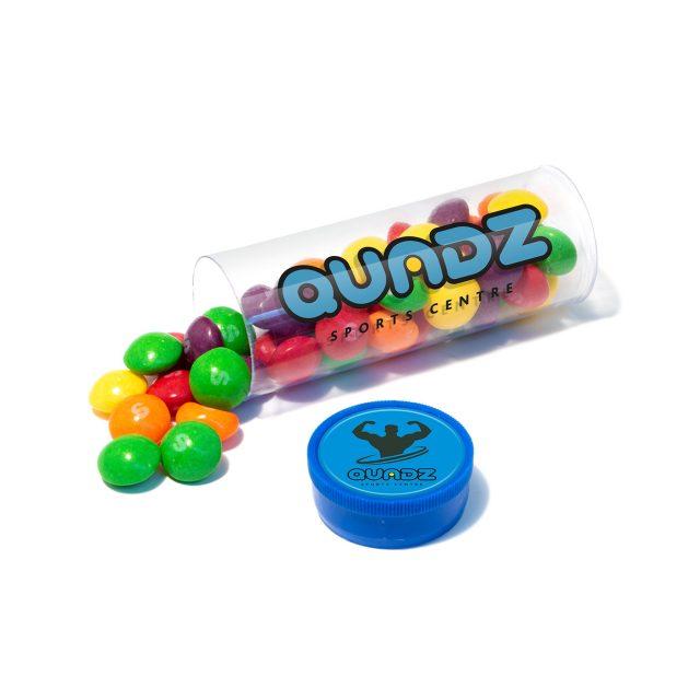 Clear Tube Midi – Skittles