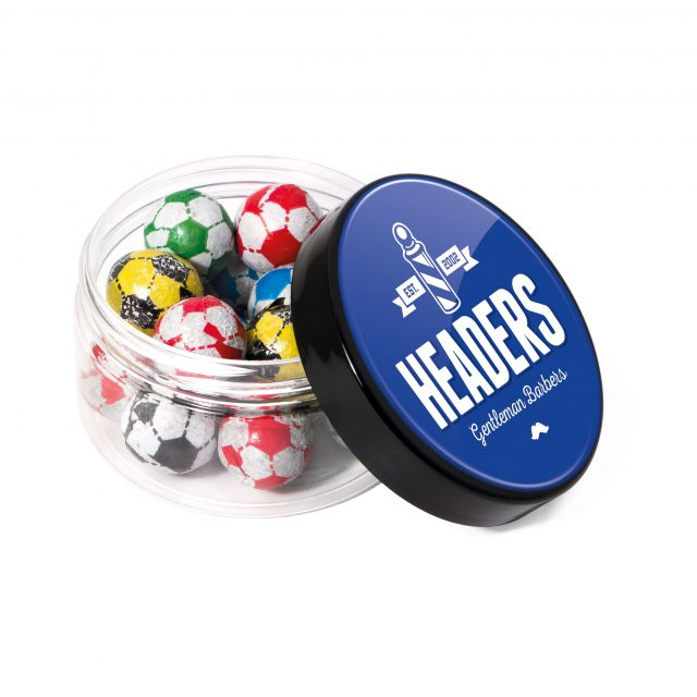 Screw Top Jar – Chocolate Footballs