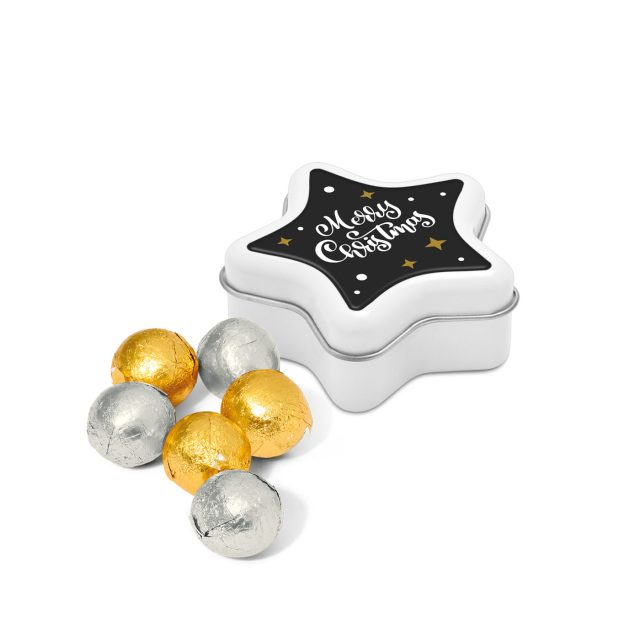 Star Tin – Foiled Chocolate Balls