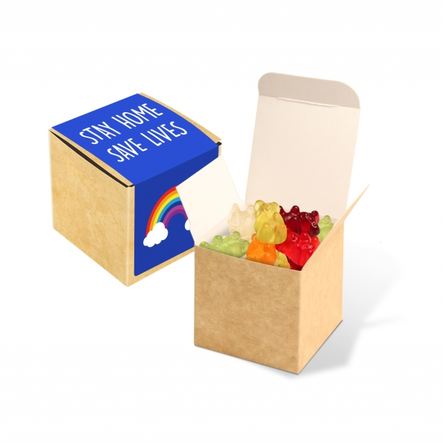 Available Now – Eco Kraft Cube – Kalfany Vegan Bears – 40g