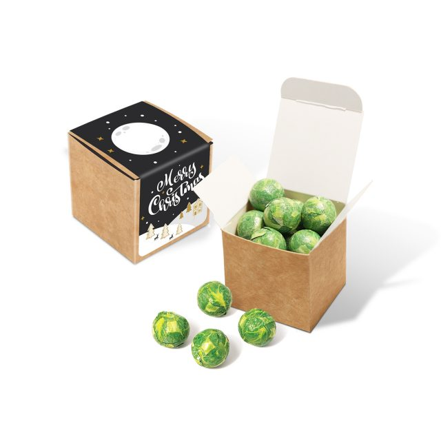Winter Collection 2020 – Eco Kraft Cube – Chocolate Sprouts