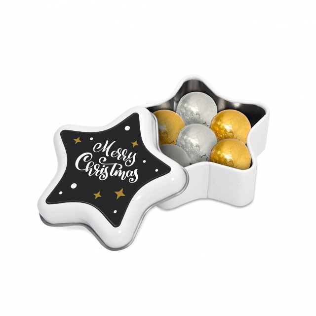 Winter Collection 2020 – Star Tin – Foiled Chocolate Balls