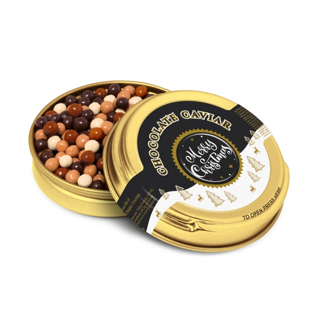 Winter Collection 2020 – Caviar Tin – Gold – Chocolate Pearls