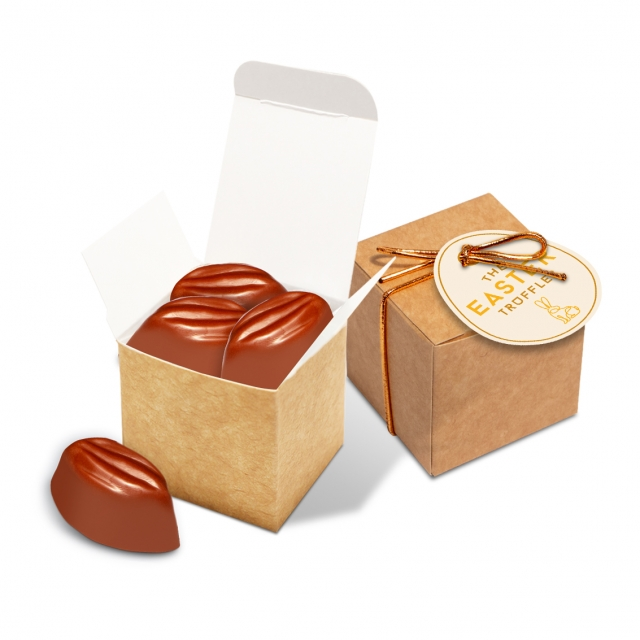 Easter – Eco Kraft Cube – Cocoa Bean Truffles – Cookies & Cream