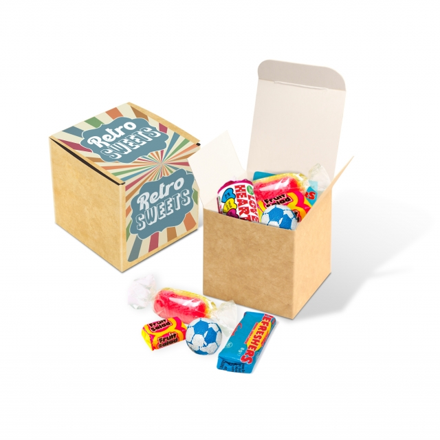 Eco Kraft Cube – Retro Sweets