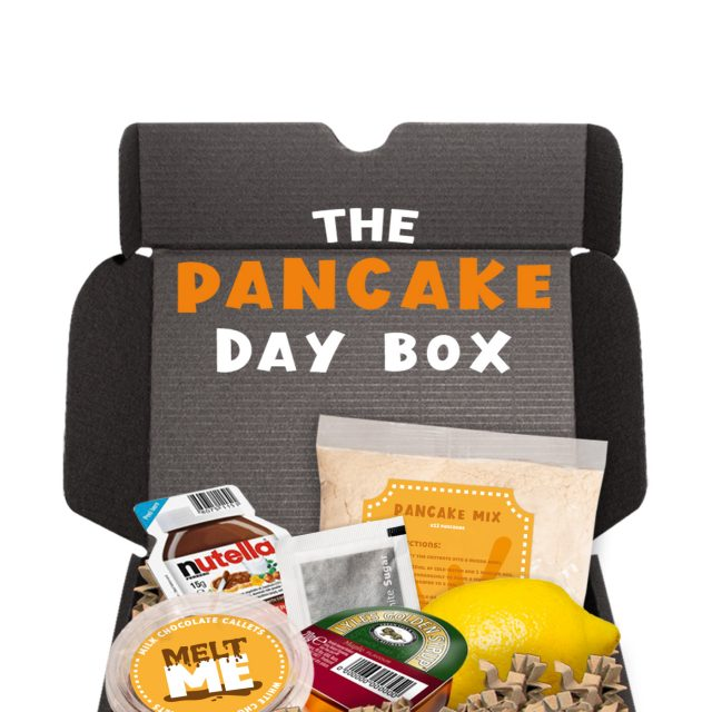 Gift Boxes – Midi Black Gift Box – Pancake Day Edition